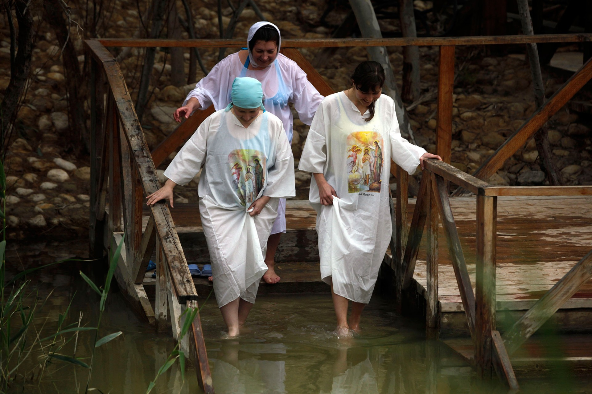 Epiphany celebrations in the Jordan River, Qasir al-Yahud 2012