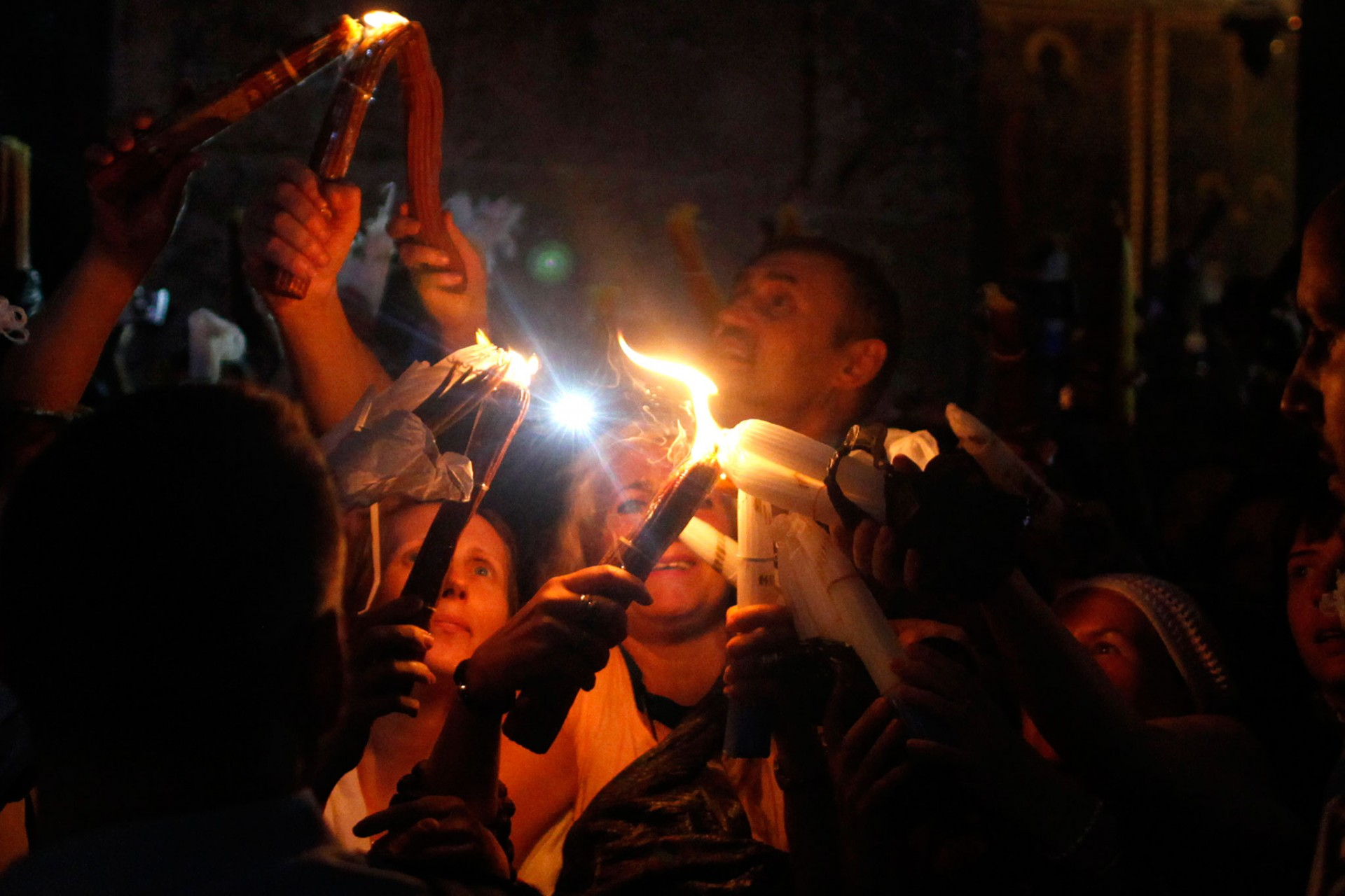 Holy Fire Ceremony at the Church of the Holy Sepulchre, Jerusalem 2013